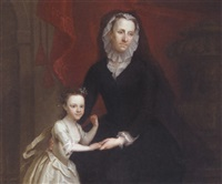 portrait of elizabeth dunch, lady bisshopp of parham and her daughter mary, lady dormer by jeremiah davison