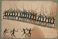 one of the murray river tribe's war dance (before the fight) by tommy mcrae