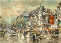 le moulin rouge a montmartre en 1900 by antoine blanchard
