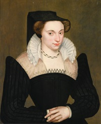 portrait de femme à la robe noire by françois quesnel