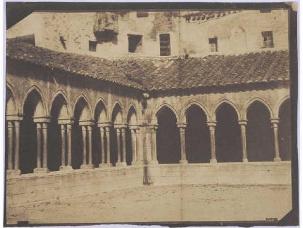 arcades du cloître, eglise sainte marie, arles su tech (pyrénées-orientales) (from mission héliographique) by gustave le gray and auguste mestral
