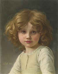 young girl with curly hair by jules cyrille cavé