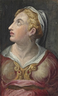 head of a young woman by giorgio vasari
