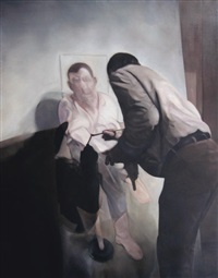 painter painting, painted after francis bacon by annie cabigting
