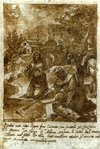 saint françois priant dans la nature by avanzino nucci