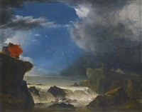 the breach of the sint anthonisdijk on the night of 5-6 march by jan asselijn