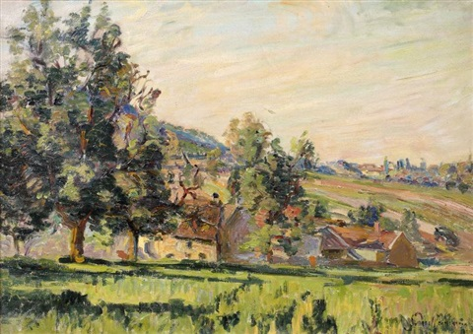 paysage damiette sur oise by armand guillaumin
