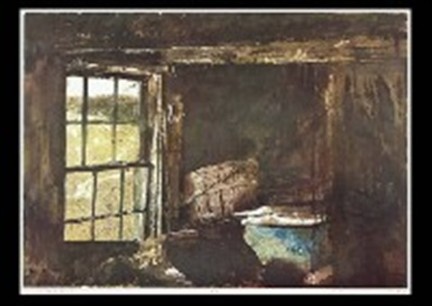 split ash basket by andrew wyeth