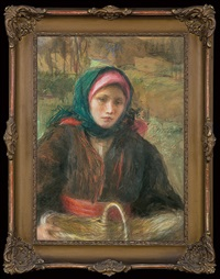 girl with a basket by teodor axentowicz
