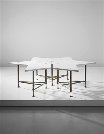 Rare set of three modular coffee tables by gio ponti on artnet for Coffee table 40 x 24