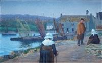 hamnen i concarneau, bretagne by per ewert