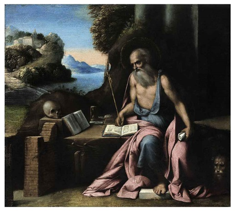 saint jerome in the wilderness by benvenuto tisi da garofalo
