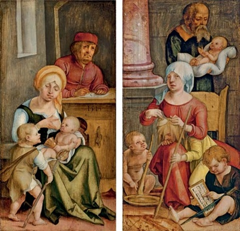 mary clopas and her family mary salome and her family pair by hans suess von kulmbach