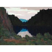 twilight, algoma by george agnew reid