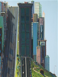 hill street (day city) by wayne thiebaud
