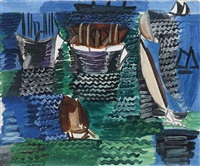 bateaux au havre by raoul dufy