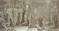 scène historique ancienne avec vespasien et flavius josèphe by pedro campana