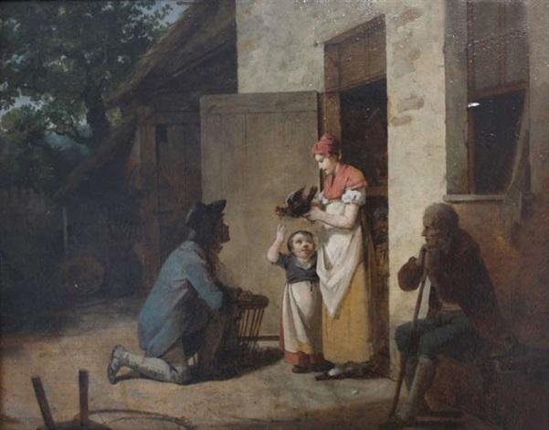 lheureuse famille by françois marius granet