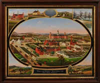 view of the buildings & surroundings of the berks county almshouse by john rasmussen