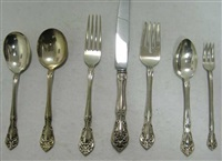 flatware service (set of 47) in chateau rose pattern by alvin corp.