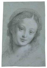 the head of the virgin by bernardino lanino