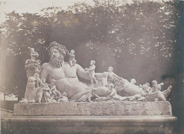 le nil (groupe colossal), jardin des tuileries, paris by charles nègre