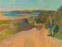 breton a la plage by jean bertrand pegot-ogier