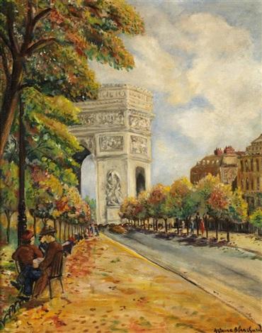 vue sur larc de triomphe by antoine blanchard