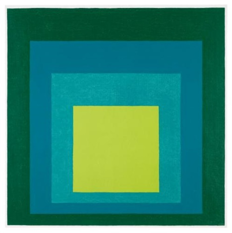 study for homage to the square nowhere by josef albers