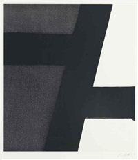 sérigraphie nº 21 by pierre soulages