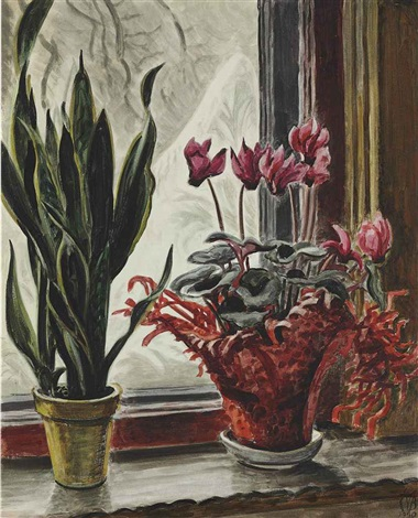 the frosted window by charles ephraim burchfield