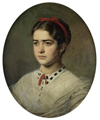 portrait of a young lady by viktor alekseevich bobrov