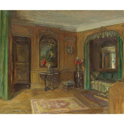 edith whartons bedroom at pavillon colombe by walter gay