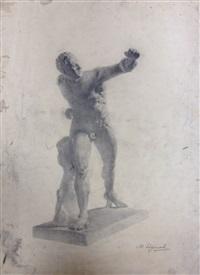 модель с вытянутой рукой by maria vasilievna yakinchikova-weber