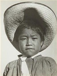 a proud little agrarista (mexican peasant boy) by tina modotti