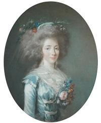portrait de la duchesse de la rochefoucault-liancourt (?) by adélaïde labille-guiard