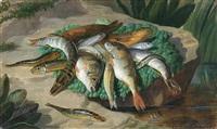nature morte aux poissons by françois frédéric grobon