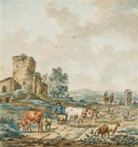 scène pastorale by aert schouman