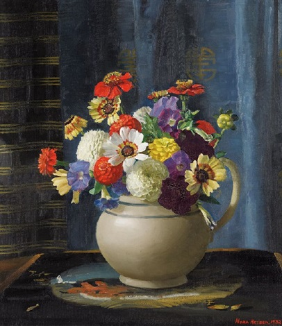 flowers in a jug by nora heysen
