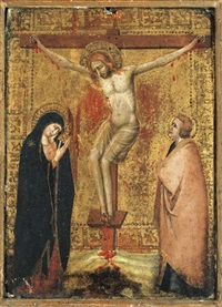 the crucifixion with the virgin and saint john the evangelist by francesco di giotto di bondone