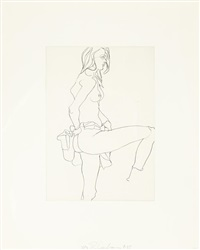 untitled (nudes) (10 works) by robert graham