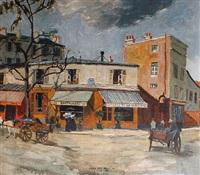 parisian street scene by elsa von arnim