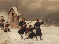 prussian infantry by christian sell the elder