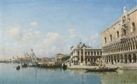 the doge's palace and santa maria della salute by federico del campo