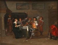 l'heureux repas dans un intérieur by anthonie palamedesz