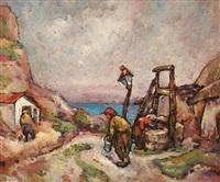 scene from dobrogea by traian cornescu