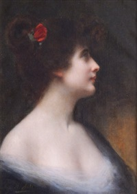woman in profile by angelo asti
