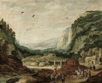 paysage rocheux animé by philips de momper the elder