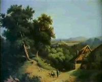 les environs de jasseron by nicolas-victor fonville