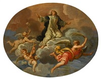 assumption of a female saint by louis galloche